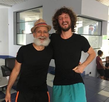 Con David Zambrano, Costa Rica