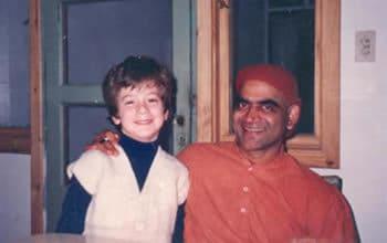 Vinicius y Swami Kaivalyananda 1993